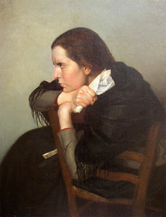"Portrait of the artist Seraphima Blonskaya (""The Letter"", 1890)"