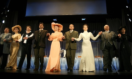 "The artists of the Taganrog Theater on stage of Badenweiler Kurhaus (Play ""The Wood Demon"")"
