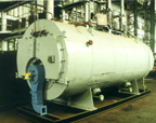 Automated fire-tube steam boiler