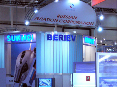 Beriev Aircraft Company at the stand of Russian Aviation Corporation, Hannover Fair 2005