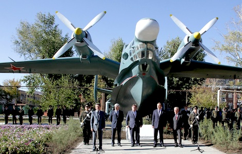 Inauguration of the BE-12 monument in Taganrog