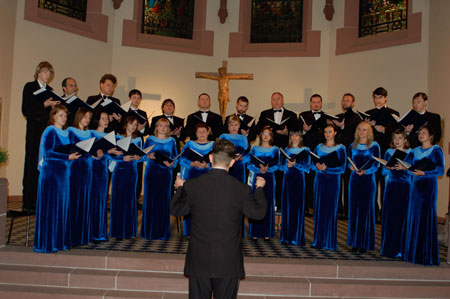 October 5, 2006:  the municipal choir LIK performing  at the Evangelical Church of Badenweiler