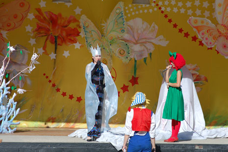 Stage performance for kids