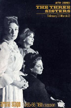 Poster for the Three Sisters by Chekhov, USA